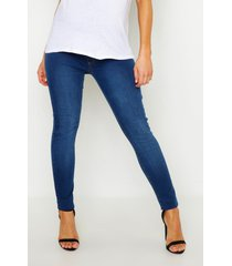 maternity washed jegging, mid blue