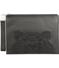 kenzo large pouch with logo