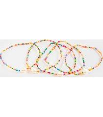 women's camila beaded pearl bracelet set in multi by francesca's - size: one size