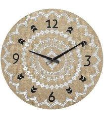 zegar ścienny len 38 cm