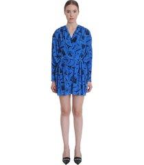 balenciaga suit in blue polyamide