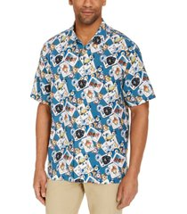 tommy bahama men's stack the deck silk short sleeve camp shirt