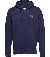 sign off zupthru hoodie trui blauw wrangler