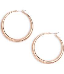 women's halogen medium graduated tube hoop earrings