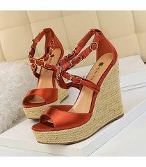 mujer zapatos sandalias de cuña fashion-cool-vino