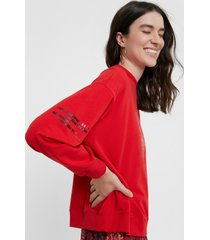 oversize mandala sweatshirt - red - xl
