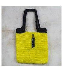 crocheted handbag, 'marigold love' (ghana)