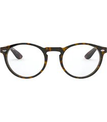ray-ban ray-ban rx5283 havana on top trasp brown glasses