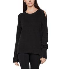 bcbgmaxazria cold-shoulder sweater