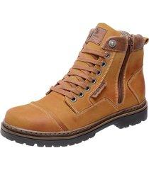 bota coturno em couro mega boots 6017 amarelo - amarelo - masculino - dafiti