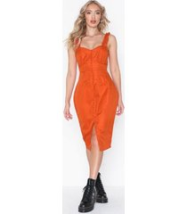 missguided button frill midi dress loose fit dresses