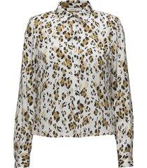 leopa shirt ma18 blouse lange mouwen crème gestuz