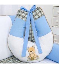 almofada amamentação urso pote de mel grão de gente azul