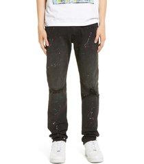 men's cult of individuality rocker slim fit stretch jeans, size 42 - black