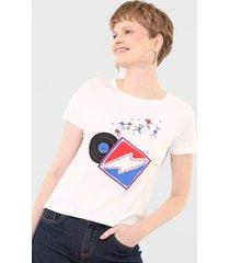 camiseta cantão vinil branca