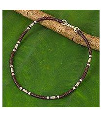 silver anklet, 'wandering maroon' (thailand)