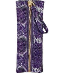 kelly wynne zip privacy pouch - purple
