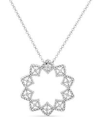 0.22 tcw diamond & 18k white gold necklace