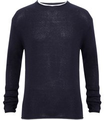 sweater brave soul azul - calce regular
