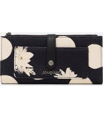 linen rectangular wallet - black - u