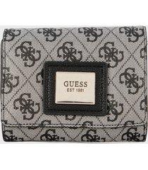 billetera gris-negro guess