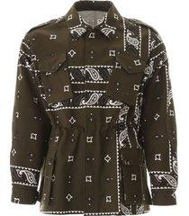 msgm bandana print safari jacket