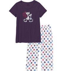 pigiama con pinocchietto (viola) - bpc bonprix collection