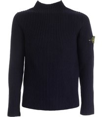 stone island ribbed high collar sweater
