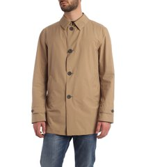 overcoat in camel color with hat