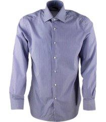 barba napoli mens slim fit journey model shirt with hand-sewn striped no crumple fabric