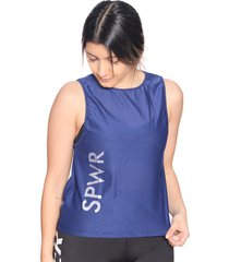 esqueleto deportivo mujer azul oscuro escote en espalda  arequipe