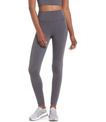 women's girlfriend collective high waist full length leggings, size xx-small - grey