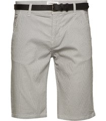 aop chino shorts w?. belt shorts chinos shorts grå lindbergh
