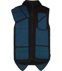 byborre multi-pocket sleeveless jacket - blue