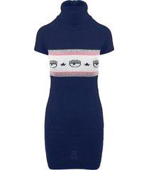 chiara ferragni maxilogo mania knit dress