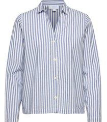 adult pajama shirt in poplin top blå gap