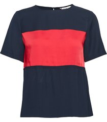 frances top ss t-shirts & tops short-sleeved blauw tommy hilfiger