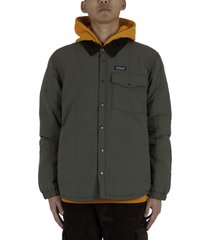 isthmus quilted shirt jacket - green