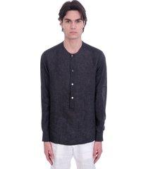 ermenegildo zegna shirt in grey linen