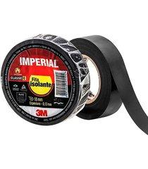 fita isolante imperial preta 18mmx10m - 3m - 3m