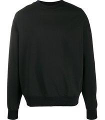 alchemy ribbed-trim sweatshirt - black