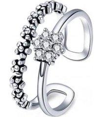 anillo compromiso doble casual plata arany joyas
