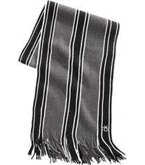 calvin klein men's striped scarf