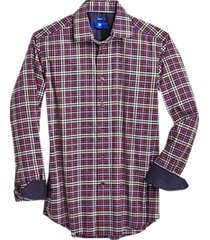 egara raspberry gingham modern fit sport shirt