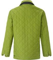 gewatteerde jas in recht model van lodenfrey groen