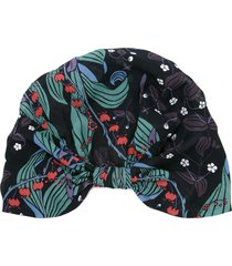 ingie paris floral print turban - black