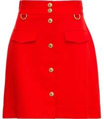 givenchy red viscose blend skirt