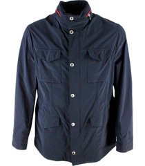 brunello cucinelli field jacket in light technical fabric with internal drawstring and zip and button closure