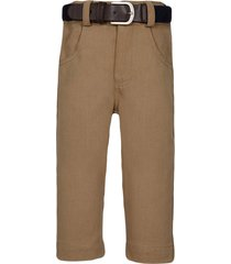 lapin house belted fitted trousers - brown