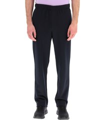 ami alexandre mattiussi track pants with logo embroidery